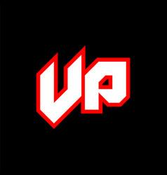 Vp logo design initial vp letter design vector