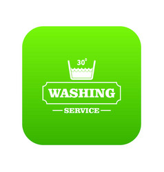 Washing soap icon green vector