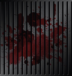 blood on grille metallic vector image vector image