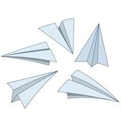 cartoon paper planes vector image vector image