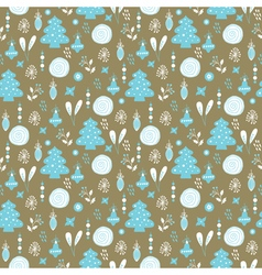 Christmas background blue white brown vector