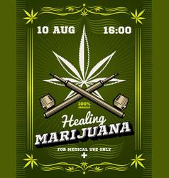 Marijuana smoker weeds drug warning vector