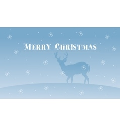 Merry Christmas deer with snowflakes scenery vector image vector image