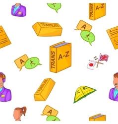 Translation pattern cartoon style vector image