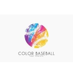 Baseball ball logo sport logo baseball creative vector