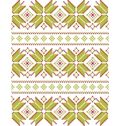 Geometric crocheted snowflakes pattern vector image