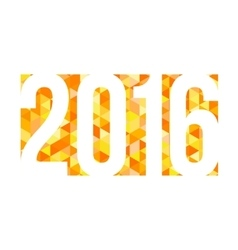 gold mosaic background with 2016 figures vector image