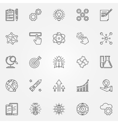Innovation icons set vector image vector image
