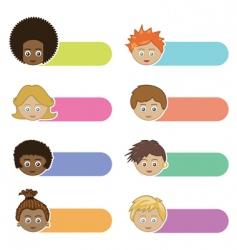 kids tabs vector image vector image