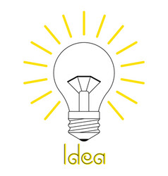 a glowing incandescent light vector image