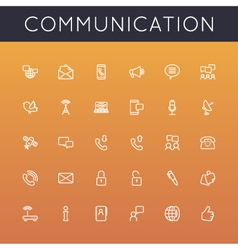 Communication Line Icons vector image vector image