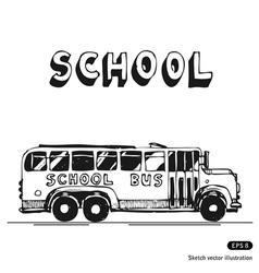 School bus vector image vector image