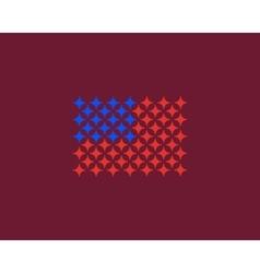 American flag made of stars USA patriot vector image