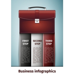 Business infographics icon isolated on blue vector image vector image