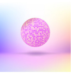 Halftone color sphere vector image