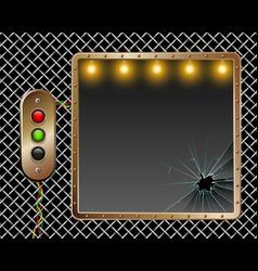 industrial background metal frame brass vector image