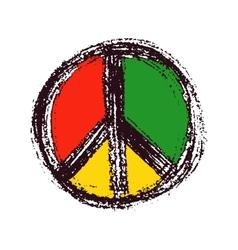 Peace symbol drawing vector