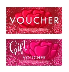 Valentines day gift card voucher template On vector image vector image