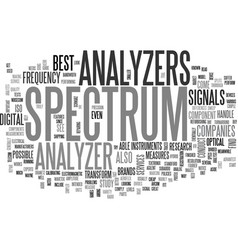 A guide to spectrum analyzers text word cloud vector