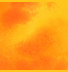 Abstract yellow and orange watercolor texture vector