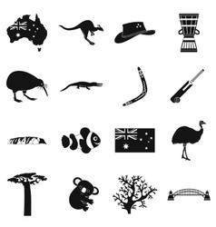 Australia icons simple vector