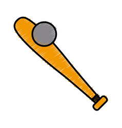 baseball bat symbol vector image