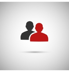 Black and red flat icon people eps vector