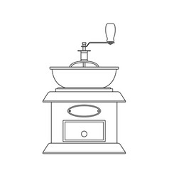 black-and-white of the coffee grinder vector image