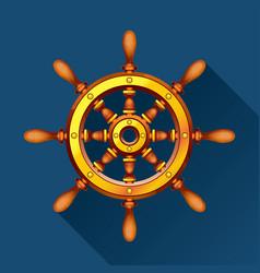 Boat wheel blue vector