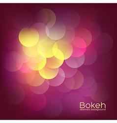 Bokeh Lights Vintage Background vector image