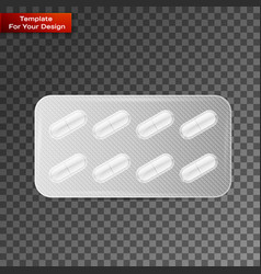 capsules packed in blister vector image