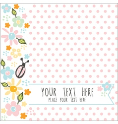 card with pink dots vector image