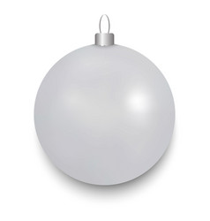 christmas ball isolated vector image