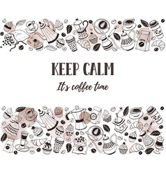 Coffee time poster vector