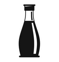 condiment glass bottle icon simple style vector image