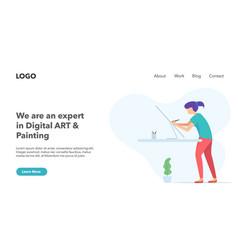 Creative agency startup business portfolio vector