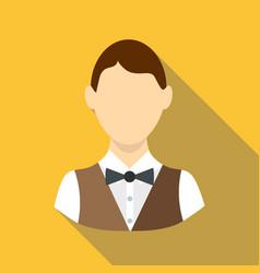 Croupier icon flat style vector
