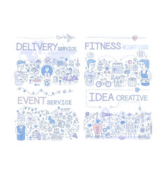 delivery service fitness weight loss event vector image
