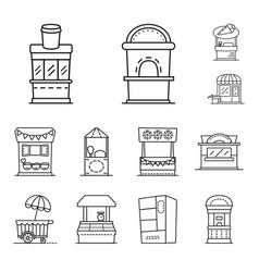 Design vending and public sign vector