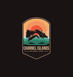 emblem logo channel islands national park vector image
