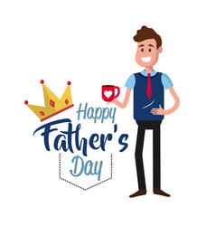 Father day card with decoration design vector