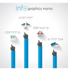 Flat UI design concepts for unique infographics vector image vector image