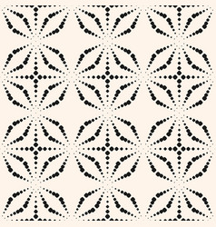 floral seamless pattern with dotted shapes vector image