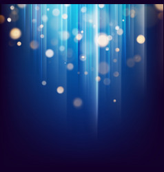 Glitter gold lights abstract particles defocused vector