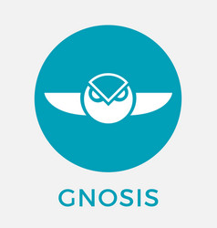 Gnosis gno cripto currency logo vector
