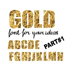 Gold font Part 1 vector
