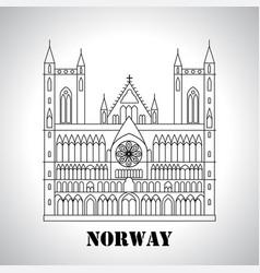 gothic nidaros cathedral icon vector image