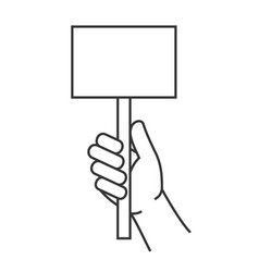 Hand holding blank score card sign vector