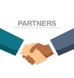 Handshake two men in honor new partnership and vector