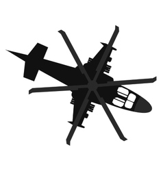 Helicopter icon Top view vector image